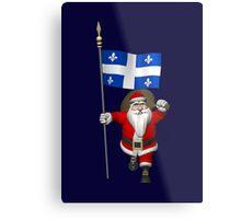Santa Claus Visiting Quebec Metal Print