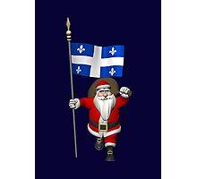 Santa Claus Visiting Quebec Photographic Print