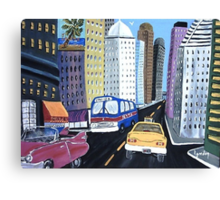 Uncle Eddy's Yellow Taxi Canvas Print