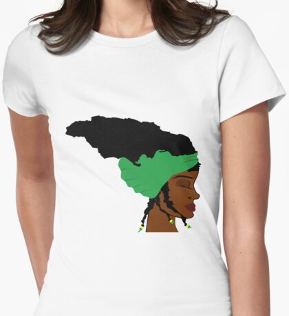 Hair Jamaica Womens Fitted T-Shirt