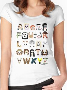Horror Icon Alphabet Women's Fitted Scoop T-Shirt