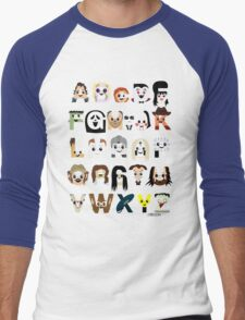 Horror Icon Alphabet Men's Baseball ¾ T-Shirt