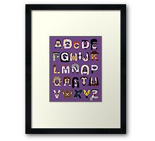Horror Icon Alphabet Framed Print
