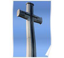 Blue Sky Cross Poster