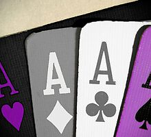 The Asexuality Blog - Four Aces Logo by AsexualityBlog