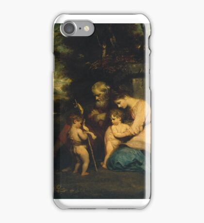 Sir Joshua Reynolds    The Holy Family with the Infant St John iPhone Case/Skin