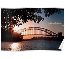 Sydney Harbour Bridge at Sunset Poster