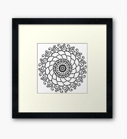 Mandala floral Framed Print
