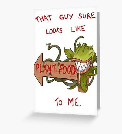 Plant Food Greeting Card