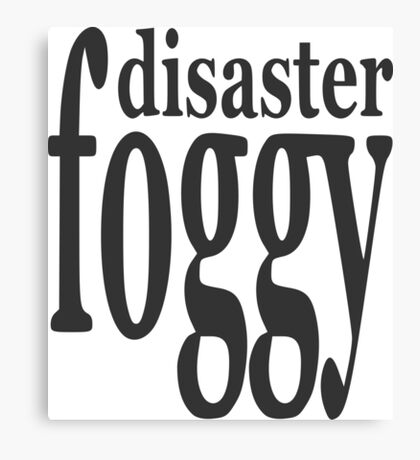 "Nickname ""Foggy Disaster"" Canvas Print"
