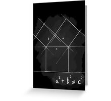 Pythagorean Theorem Greeting Card