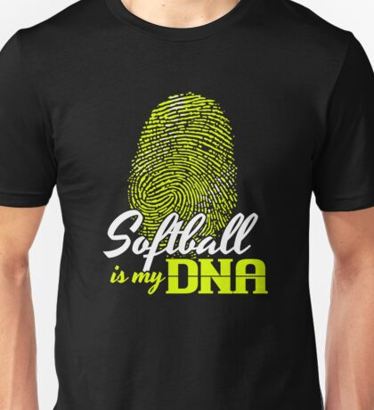 Softball is my DNA T Shirt Unisex T-Shirt