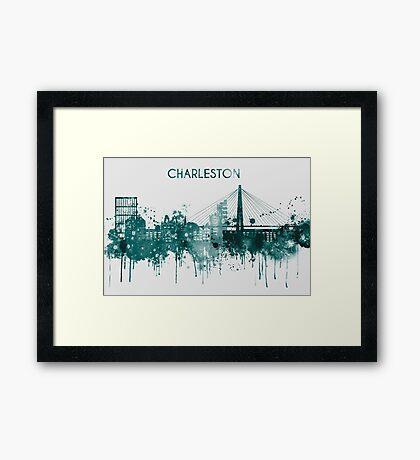 Charleston South Carolina skyline Framed Print