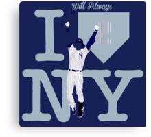 """I will always LOVE NY"" Derek Jeter Canvas Print"