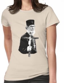 Brother Nathanael: Holding the Cross Womens Fitted T-Shirt