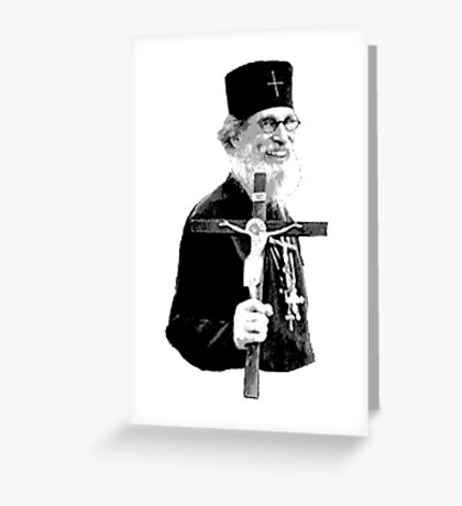 Brother Nathanael: Holding the Cross Greeting Card