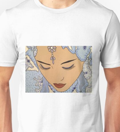 Indian woman in lace sari Unisex T-Shirt