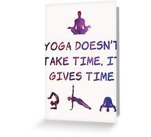 Yoga #2 Greeting Card