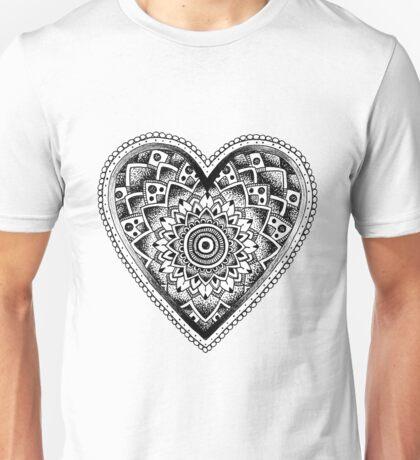 Mandala Love Heart Unisex T-Shirt