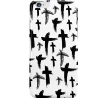 Crosses (black) iPhone Case/Skin