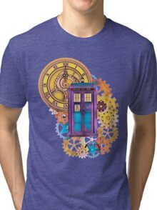 Colorful TARDIS Doctor Who Art Tri-blend T-Shirt