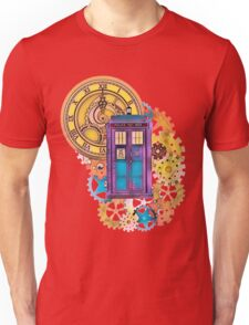 Colorful TARDIS Doctor Who Art Unisex T-Shirt
