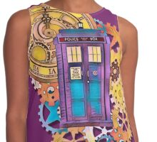 Colorful TARDIS Doctor Who Art Contrast Tank