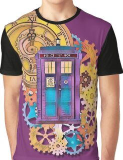 Colorful TARDIS Doctor Who Art Graphic T-Shirt