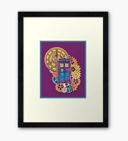 Colorful TARDIS Doctor Who Art Framed Print