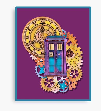 Colorful TARDIS Doctor Who Art Canvas Print
