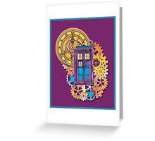 Colorful TARDIS Doctor Who Art Greeting Card