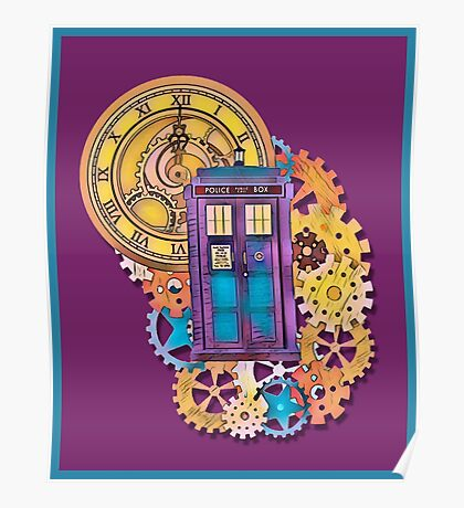 Colorful TARDIS Doctor Who Art Poster