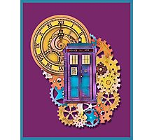 Colorful TARDIS Doctor Who Art Photographic Print