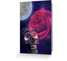 Skull and Rose Greeting Card