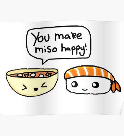 Cute Miso Happy! Poster