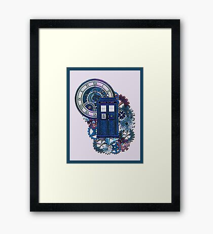 Time and Space Doctor Who inspired Art Framed Print
