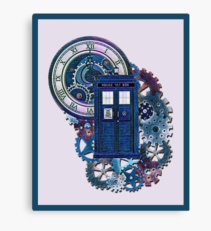Time and Space Doctor Who inspired Art Canvas Print