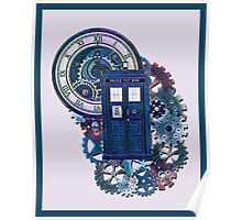 Time and Space Doctor Who inspired Art Poster