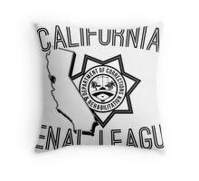 California Penal League Throw Pillow
