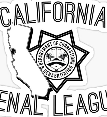 California Penal League Sticker