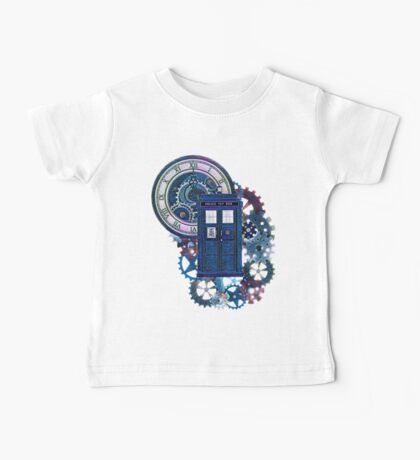 Time and Space Doctor Who inspired Art Baby Tee
