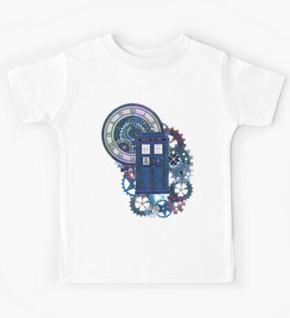 Time and Space Doctor Who inspired Art Kids Tee