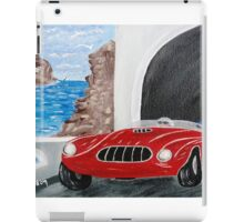 Zoomin Down the Highway in My Red Road Racer iPad Case/Skin