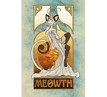 Rule 63: Meowth Photographic Print