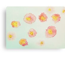 Red Posies Canvas Print