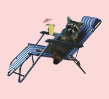 Summer Vacation Raccoon Kids Clothes