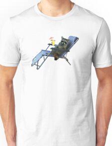 Summer Vacation Raccoon T-Shirt