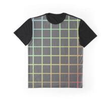 Gray Rainbow Grid! Graphic T-Shirt
