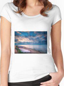 Dawn at Racó de la Zofra Women's Fitted Scoop T-Shirt
