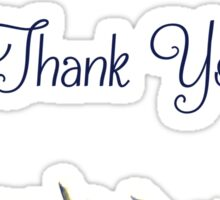 Thank You Flowers Sticker